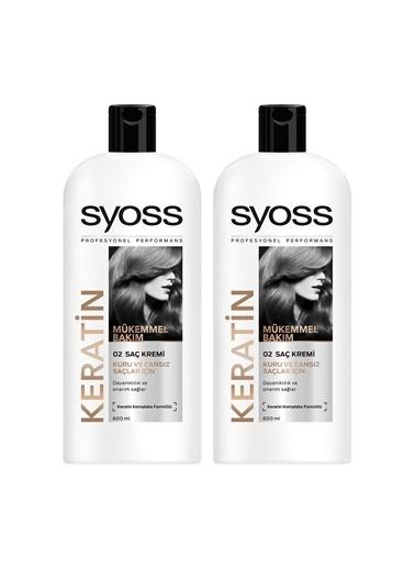 Syoss Syoss Keratın Mükemmelliği Saç Kremi 550 Ml X 2 Adet Renksiz